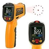 赤外線放射温度計 Janisa PM6530B 非接触デジタル温度計 温度測定銃 範囲-50℃~550℃/-58°F~1022°F カラーディスプレイは データ保持機能 アラーム機能付き 乾電池付き 日本語説明書PDF
