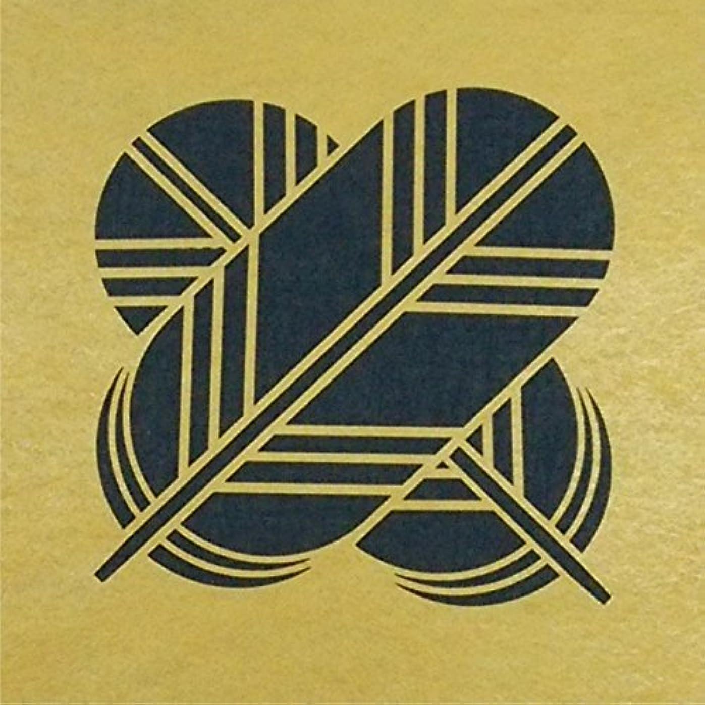 会話型契約した和ステンシルシート 違イ鷹ノ羽 家紋 3サイズ型紙  (30cm)