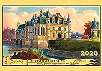 カレンダー 2020 [12 pages 20x30cm] Old Castles and Towns Liebig Cards Vintage レトロIllustration