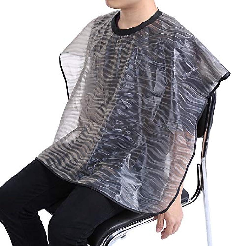 ネクタイ数性格2サイズ 防水 再利用可能 サロン 理髪布 耐久 ヘアスタイリスト ガウンバーバーケープ(01)