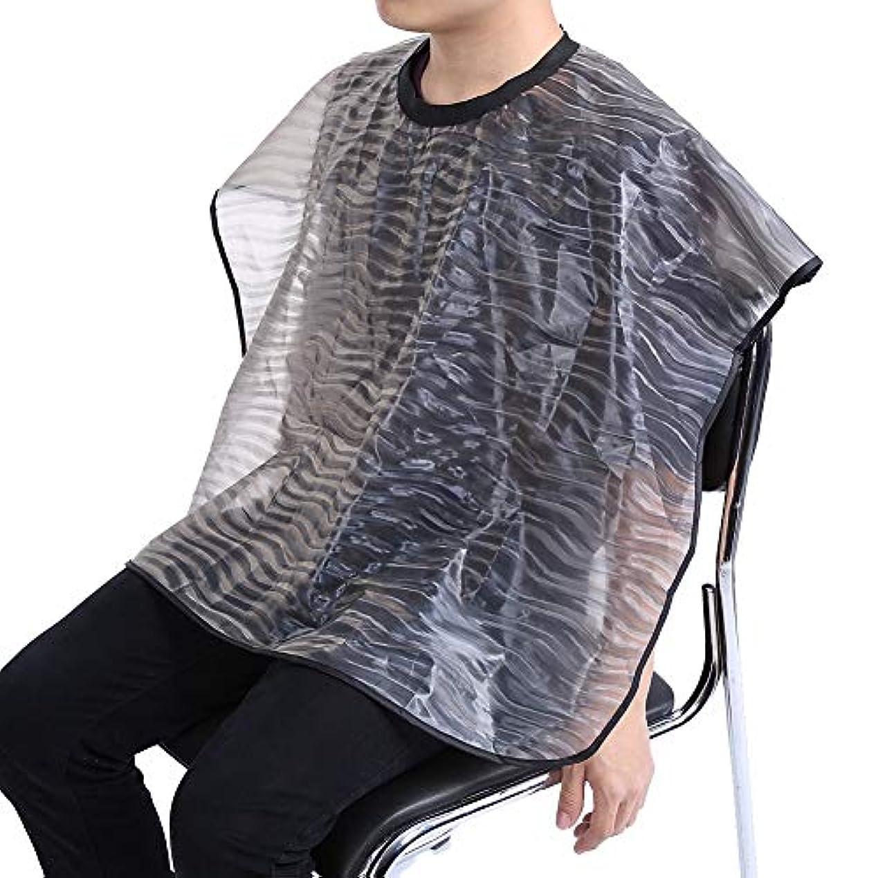 受信カメ溶融2サイズ 防水 再利用可能 サロン 理髪布 耐久 ヘアスタイリスト ガウンバーバーケープ(01)