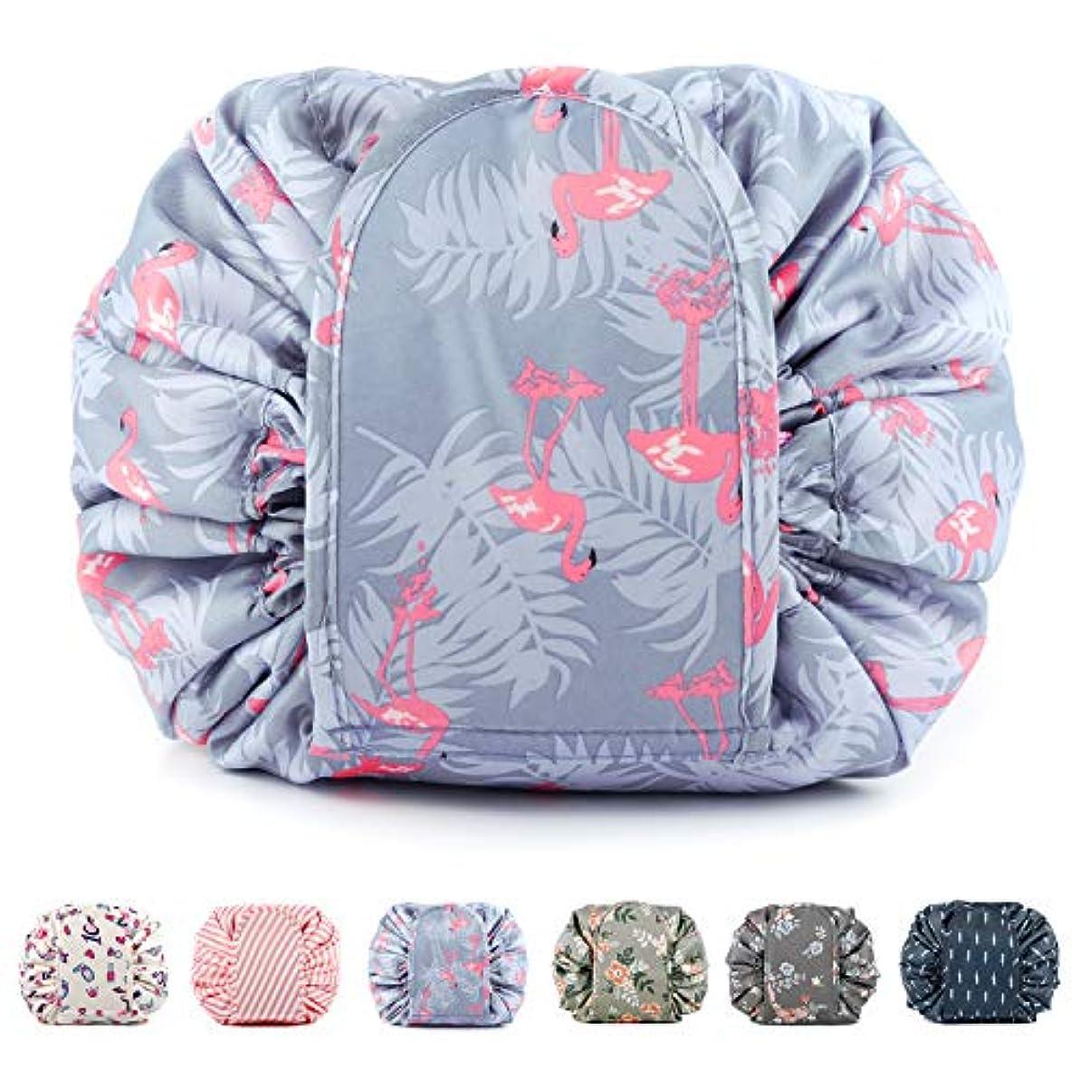 レンチ単にレーザNarweyレイジー化粧バッグ ドローストリングコスメティックバッグ 大容量 防水 トラベルケース 化粧品収納袋 メイクポータブルバッグ レディース