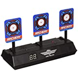 Ycocobuy Electronic Scoring Target for Nerf N-Strike Elite/Mega/Rival Series Kids Toy Auto-Reset Intelligent Light Sound Effect Scoring Target for Mega & Rival Series (Only Target) (Blue)