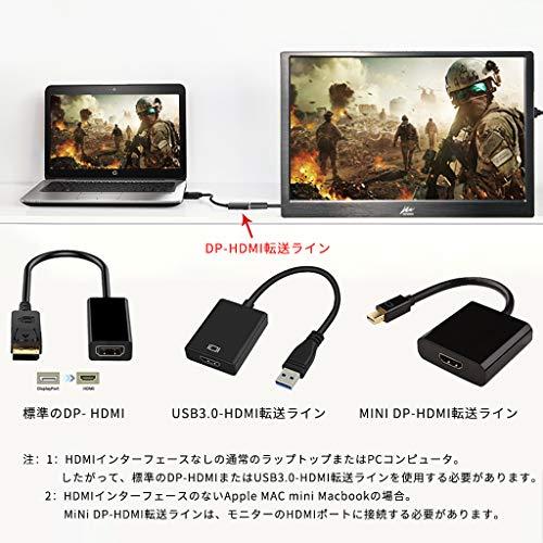 『モバイルモニター Kenowa 11.6インチ モバイルディスプレイ 1920*1080 IPS USB,HDIM 液晶パネル 支持 Raspberry Pi 1 2 3 PS4 xbox360 ゲーム』の5枚目の画像