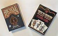 デニム& Wild West 2-deck Set Playing Cards自転車で