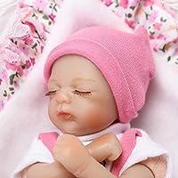 ピンキーSleeping 20 CM 8インチソフトビニールシリコン人形So Truely Lifelike Looking Realistic Reborn人形Baby Girl Eyes Closed Xmasギフト