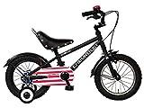 CHEVROLET(シボレー) KID'S14 BMX ブラック 14インチ 子供自転車 安定の良い極太タイヤ装着(14×2.125インチ) BMX風ハンドル 鋲付きライダーサドル フルカバーチェーンケース 迫力満点キッズバイク 14392-0199