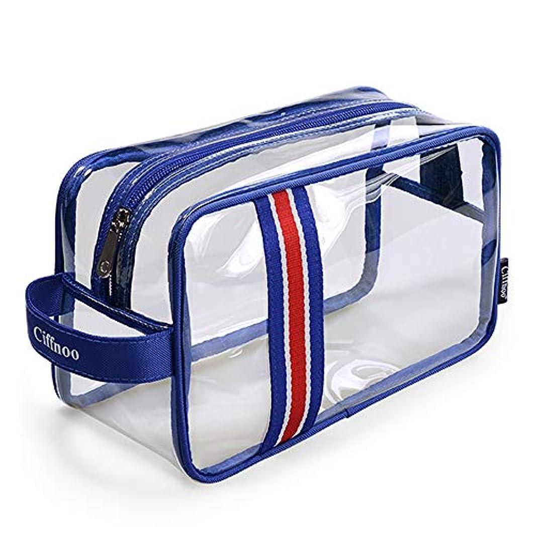 フラスコホイッスルマーカーポータブル多機能大容量男性と女性の旅行ポータブル透明防水バスバッグ入浴バスバッグ,S
