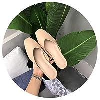 [正午-靴] 春と夏の新しい韓国語版スクエアヘッド浅いv baotouスリッパフラット怠惰なハーフドラッグ女性ファッション野生のおばあちゃんの靴,ベアパウダー,36