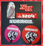NEIGHBORHOOD 3204 STICKER SET ネイバーフッド ステッカー 5枚セット THEREE THOUSAND TWO HUNDRED FOUR TWO THOUSAND AD HUMUNGUS