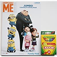 Despicable Me Jumbo Coloring and Activity Book with Crayolaクレヨン