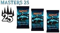 3( Three )ブースターパックof Magic : the Gathering : Masters 25( 3パック–m25ブースタードラフトLot )