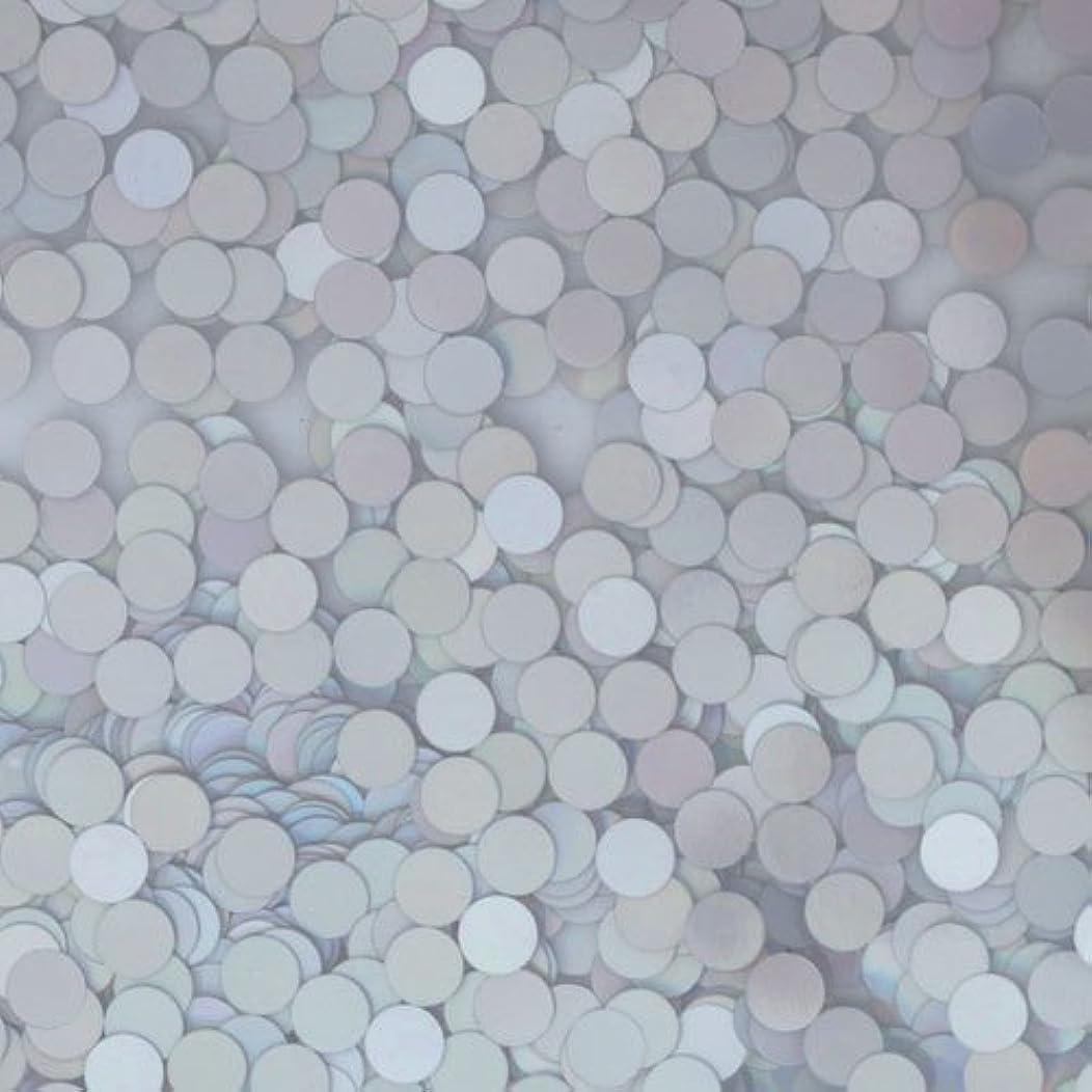 送る子孫赤字ピカエース ネイル用パウダー ピカエース 丸ホロ 1.5mm #883 マットシルバー 0.5g アート材