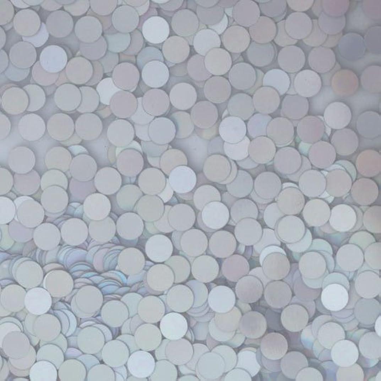 マニアック兄有効化ピカエース ネイル用パウダー ピカエース 丸ホロ 2mm #878 マットシルバー 0.5g アート材