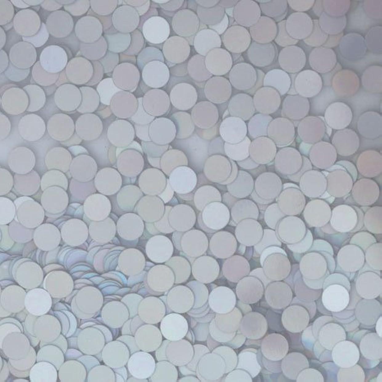 ペース確認する首ピカエース ネイル用パウダー ピカエース 丸ホロ 1.5mm #883 マットシルバー 0.5g アート材