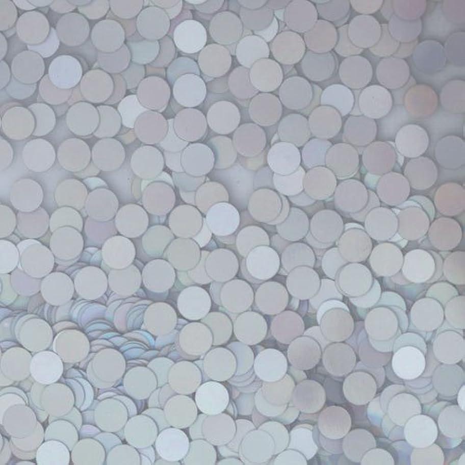 ビルダー代わってむき出しピカエース ネイル用パウダー ピカエース 丸ホロ 1.5mm #883 マットシルバー 0.5g アート材