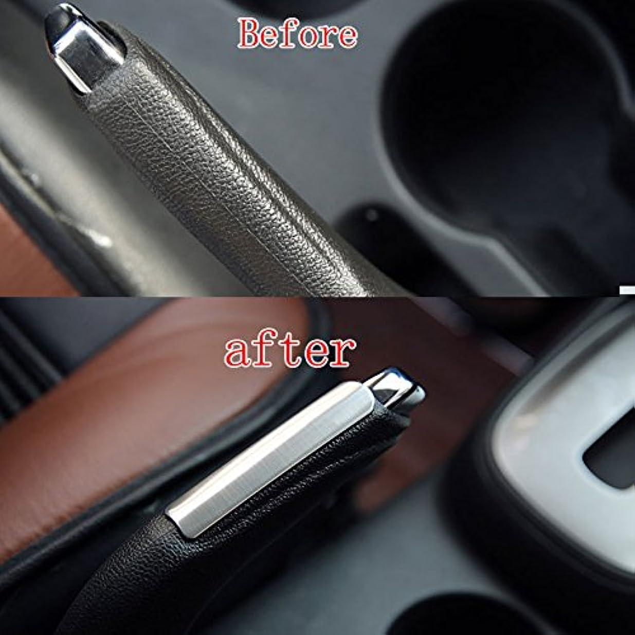 ブッシュアスレチックハイキングJicorzo - 1PC Chrome Stainless Steel Handbrake Frame Interior Trim Cover Sticker Fit For Chevrolet Trax 2013 2014...