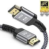 HDMIケーブル ハイスピード 1M HDMI CABLE 4K/2K対応 60Hz 3840p/2160p UHD 3D HDR 18Gbps 高速イーサネット ARC CEC Xbox PS3 PS4 PC対応 (1M, グレー)