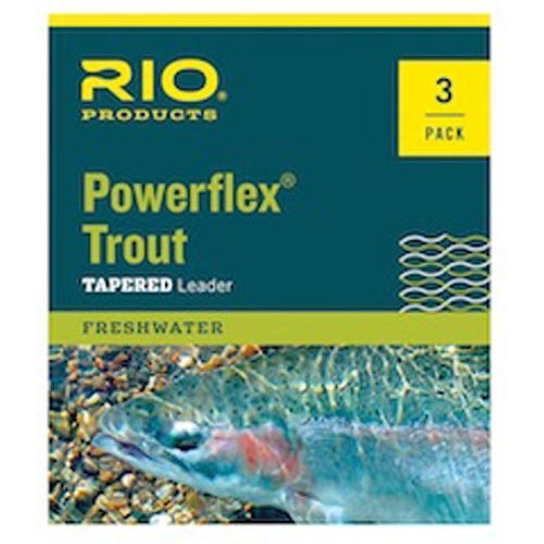 ボランティア認知光沢Rio Powerflex トラウトフライフィッシングリーダー 7.5フィート 6パック