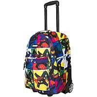 "Bonne ('Bone') Travel Trolley Bag Rolling Wheeled Luggage Travel Cart Soft Suitcase -""X-Eyes"""