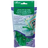 Clover 3157 24-Piece Jumbo Wonder Clips with Seam Allowance Markings, 2-1/4-Inch, Green