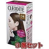 【3個セット】 クレオディーテ ヘアカラーエマルジョン(白髪のある方用)04<ココナッツブラウン> 医薬部外品