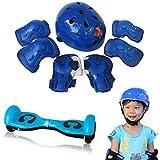 7PC幼児ヘルメット+プロテクターセット 子ども 用 キッズ 幼児 Aliciga 可愛い自転車ヘルメット 軽量 サイクリングヘルメット 調整可能 (ブルー)