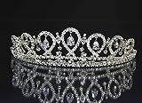 [ゴージャス屋]CZダイヤモンド ティアラ スワロフスキー 結婚式 wedding tiara