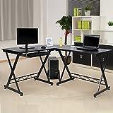 Best Latops - L-Shaped Computer Desk 3-Piece Wood Home Office Corner Review