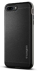 【Spigen】iPhone7 Plus ケース, [ 米軍MIL規格取得 二重構造 バンパー ] ネオ・ハイブリッド アイフォン 7 プラス 用 カバー (iPhone7 Plus, ガンメタル)