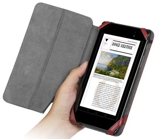 Chil Notchbookプレミアムレザーカバーfor Google Nexus 7第2世代–Merlot ( 0112–4771)
