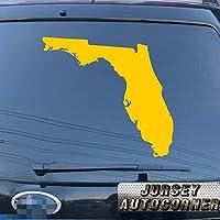 3s MOTORLINE Florida Stateマップアウトラインデカールステッカー車ビニールPickサイズカラーDie Cut No bkgrd 24'' (61.0cm) ブラック 201807027s3