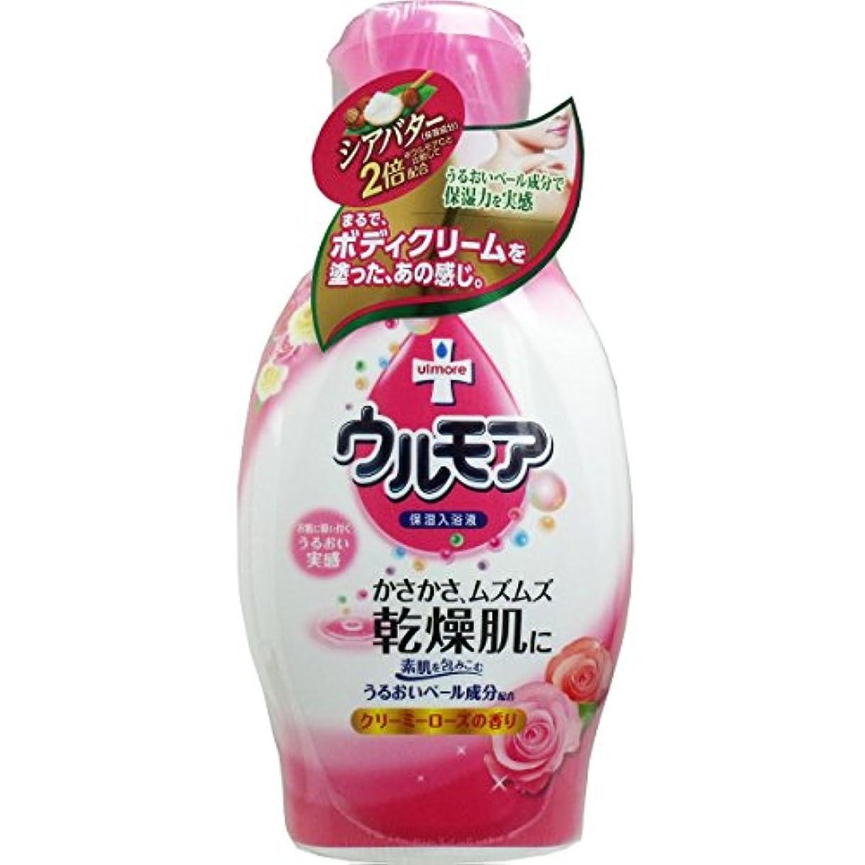 可聴入学する感染する【アース製薬】保湿入浴液ウルモアクリーミーローズの香り 600ml ×3個セット