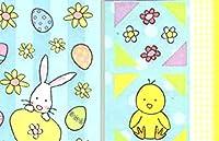 """カスタム&装飾{ 1"""" to 2""""インチ} 400卸売Pieces of mid-sizeステッカーfor Arts , Crafts &スクラップブックW / Cartoon happy easterバナー& Nature GardenスタイルW / Numbers &動物{マルチカラー}"""