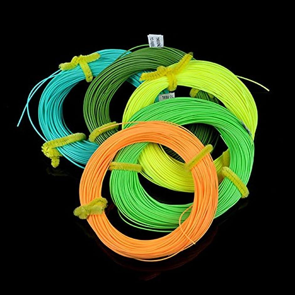 大破受粉者赤ちゃんGaoominy 高品質重量フォワードフライフィッシングライン、35ヤードフライライン釣り糸#WF3