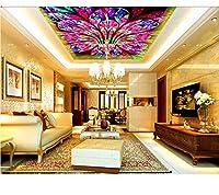 Weaeo 天井のための3D壁紙カスタム最新の2018 3D天井豪華な抽象的なモダンな台所の壁紙不織天井壁紙-280X200Cm