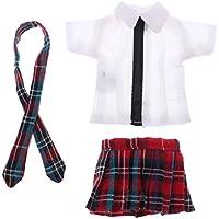 Lovoski おもちゃ ドール服 学生チェック柄制服 スカート 12インチブライスドール人形のため