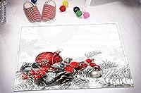 FidgetGear Christmas Balls 100% Polyester Shower Curtain Bathroom Fabric Decor Bath Mat Rug 1pc Mat Only