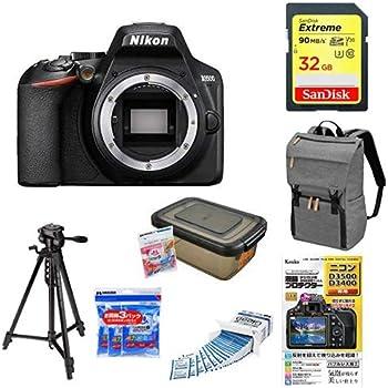 Nikon デジタル一眼レフカメラ D3500 ボディ D3500 + アクセサリー7点セット(SDカード 32GB、カメラリュック、液晶保護フィルム、レンズクリーニングティッシュ、ドライボックス、乾燥剤、三脚)