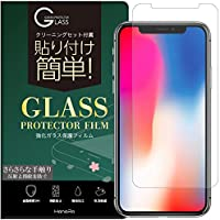 iPhoneXS Xフィルム アンチグレア 強化ガラス 高透過 耐衝撃 9H 0.33mm iPhoneX