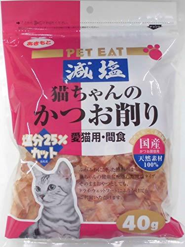 秋元水産 減塩 猫ちゃんのかつお削りの通販の画像
