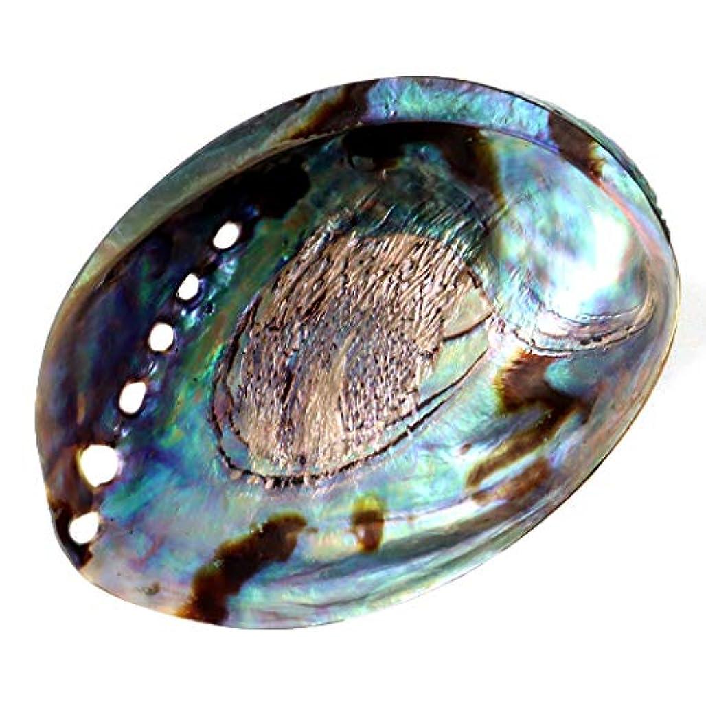言い聞かせるカニレオナルドダアバロンシェル ホワイトセージの浄化皿 パウアシェル 貝殻 ニュージーランド産
