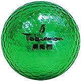 公認球 高反発ソフトコア 2ピース構造キラキラメタルボール 12球 1ダース グリーンメタル FLYGADR-GRD4