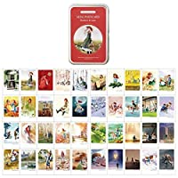 "Mini Illustratedカード40 Instax Miniカードper tin case Decorative &メッセージカード2.17 "" X 3.35 "" Card : 2.17"" x 3.35"""