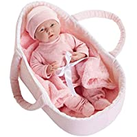 JC Toys Deluxe Realistic Baby Doll With Fabric Basket & Gift Set 15.5 [並行輸入品]