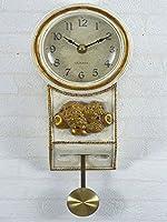 アンティーク ブラック ゴールド クラシック フルーツ柄 果物フルーツ振り子時計wa452