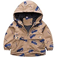 BATHAN Baby Toddler Boys Autumn Hoodie Jacket Coat Kids Zipper Outwear Boys Windbreaker Overcoat