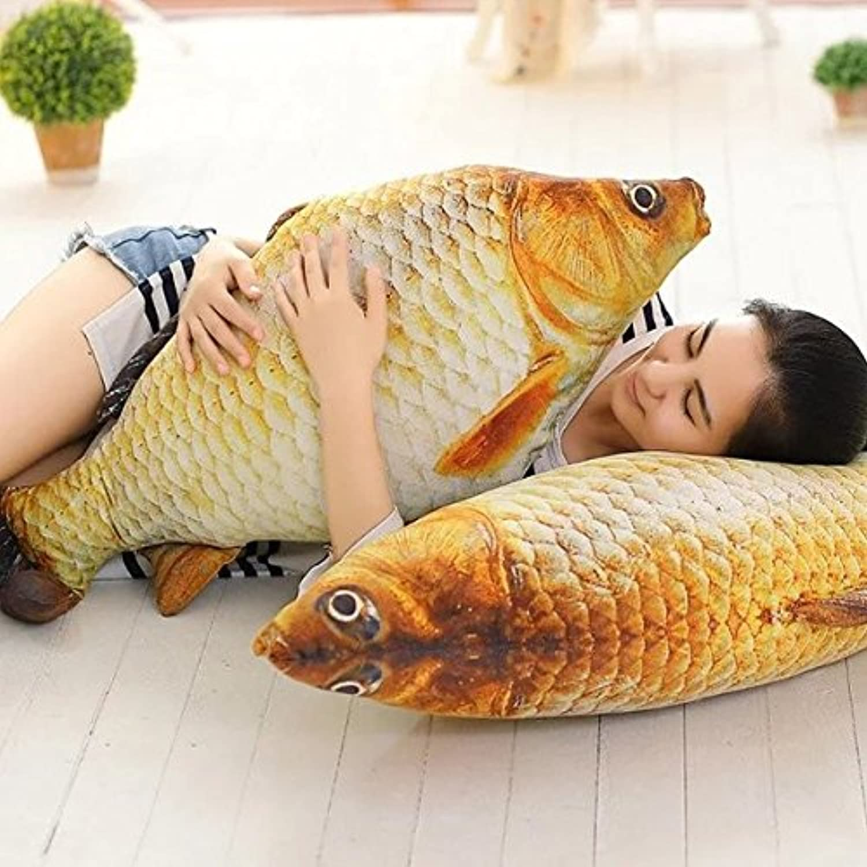 ぬいぐるみ 大きい だきまくら 魚 食べ物 さかな 抱き枕 サカナ クッションおもしろグッズおもちゃ (120cm)