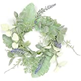 Faux Lavender & Ragwort Candle Ring/Accent Wreath