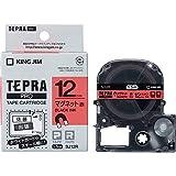 キングジム 「テプラ」PROテープカートリッジ マグネットテープ 赤/黒文字 12mm SJ12R